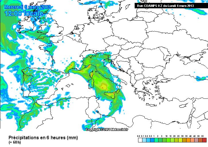 """Tra mercoledì 6 e giovedì 7 possibili piogge forti nel versante tirrenico messinese per """"effetto Alcantara""""?"""