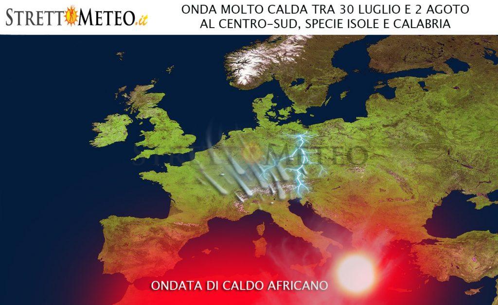 Ondata di caldo, picco tra 31 Luglio e 2 Agosto
