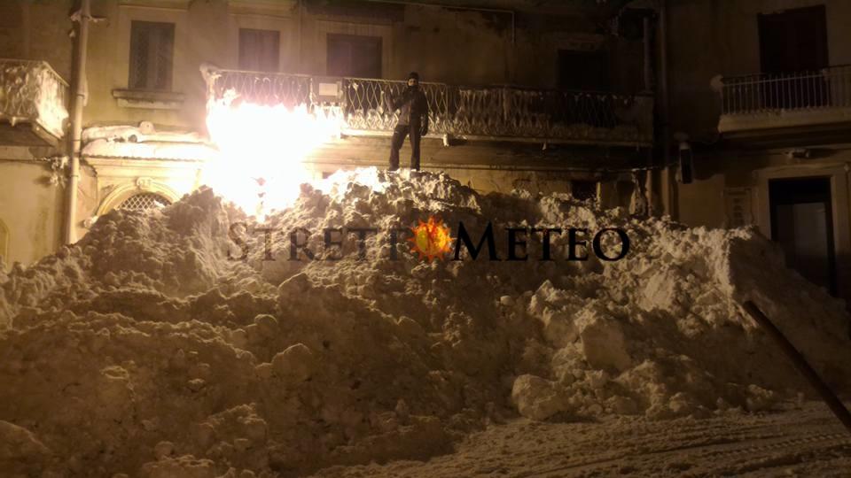 """Quando in Sicilia dovevano verificarsi solo """" spruzzate di neve """"."""