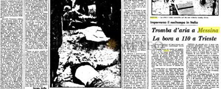 2 gennaio 1971, Messina colpita da una tromba d'aria