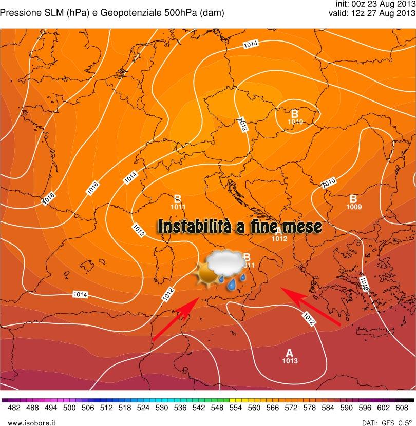 Fino a lunedì più caldo ma da martedì 27 possibile deterioramento e instabilità in agguato