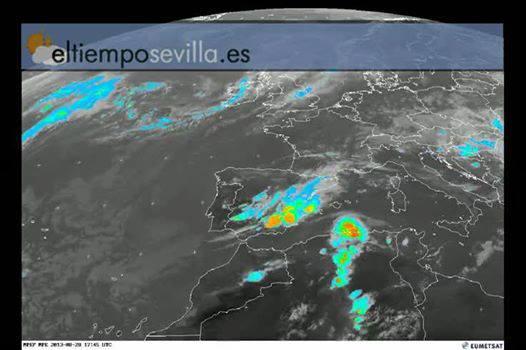 La spettacolare animazione della perturbazione mediterranea