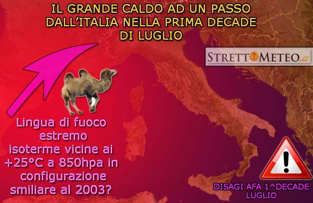 Tendenza 1^decade Luglio: Estate a go go!