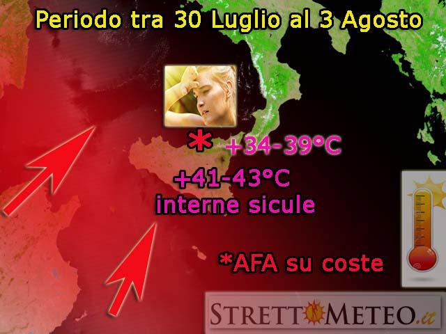 Messina arrosto inizierà da giovedì 30 una FORTE ondata di calore, durerà per qualche giorno!