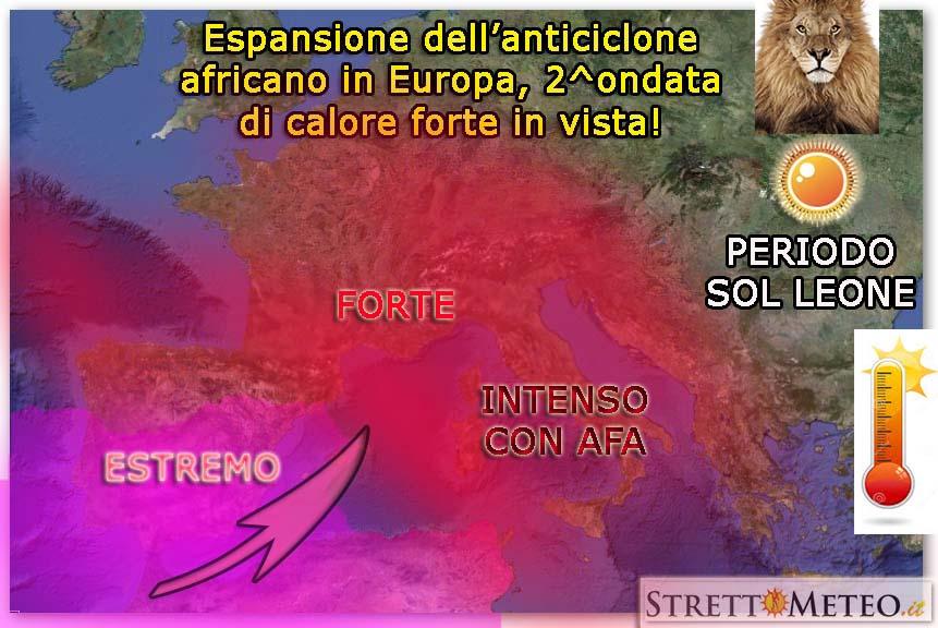 2^ decade di Luglio molto afosa per lo Stretto, temporali oggi nelle interne sicule!