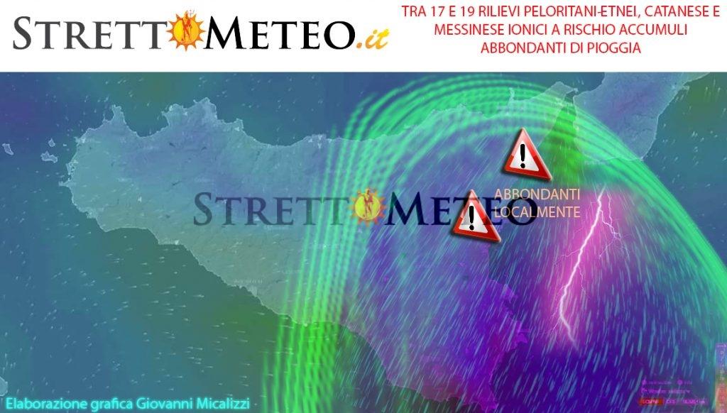 Possibili piogge intense e persistenti a tratti nelle zone ioniche tra venerdi e sabato mattina