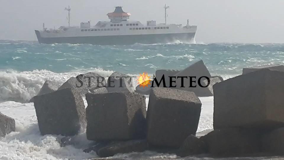 Imminente forte scirocco nello Stretto di Messina. Prudenza.