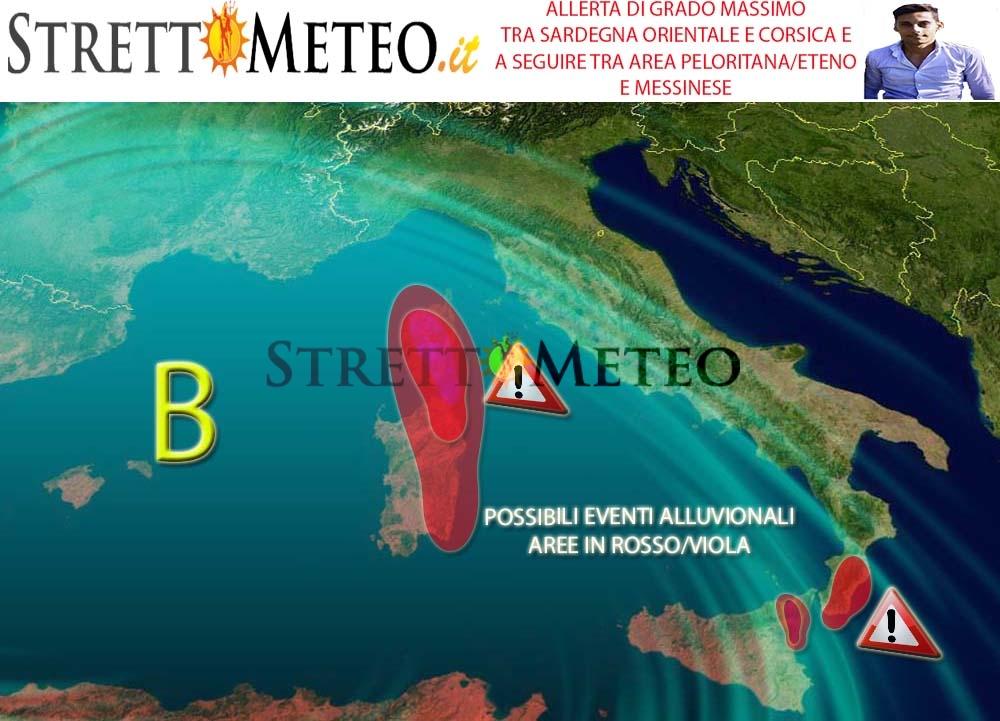 Domani situazione difficile specie a ridosso dei Peloritani, piogge abbondanti!