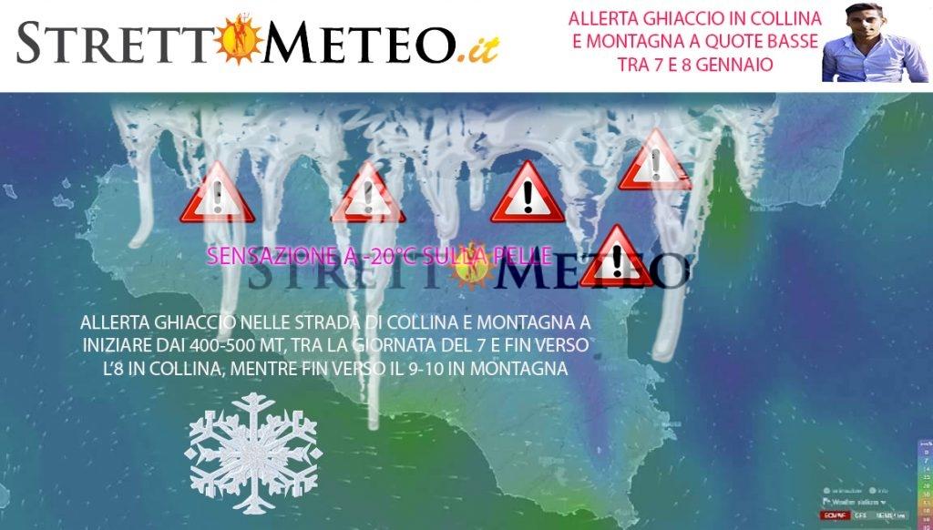 Allerta ghiaccio sulle strade dal 6 sera, in tutti i comuni montani e collinari!