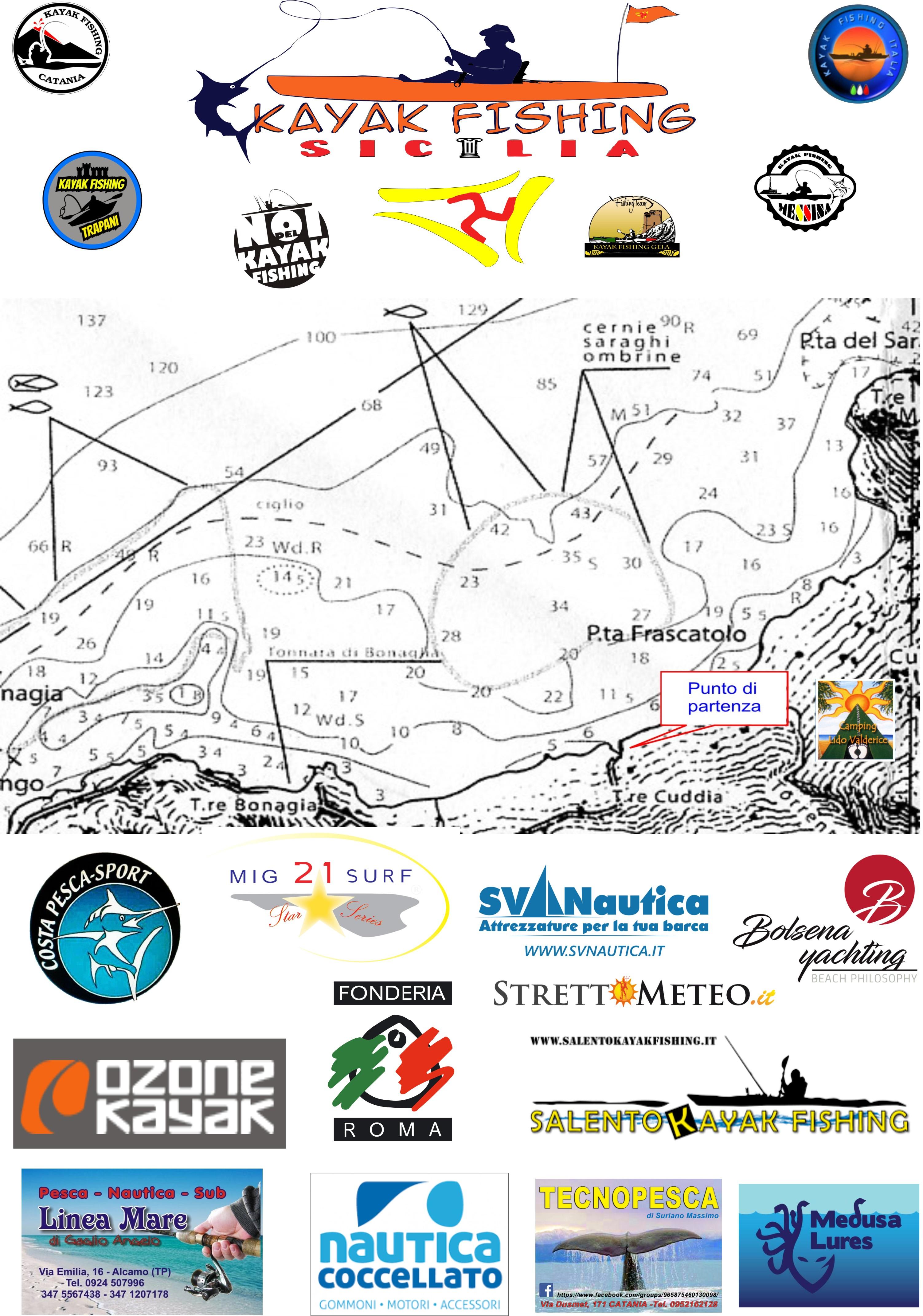"Meteo mare 1° Raduno "" Kayak Fishing Sicilia"", Valderice."